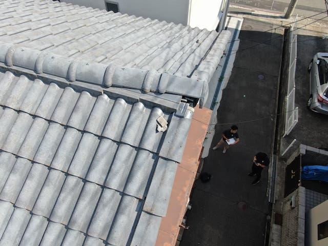 雨漏りの原因となった屋根
